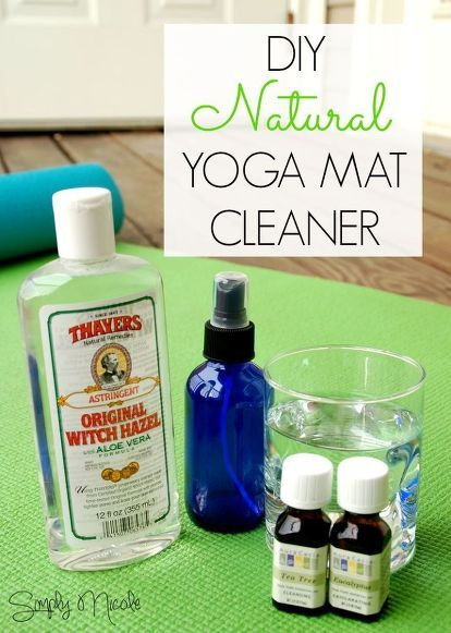 how to clean a new yoga mat