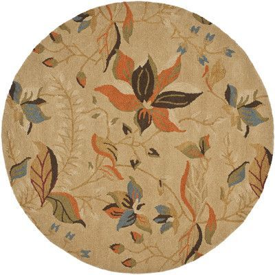 Charlton Home Bradwood Beige/Multi Area Rug Rug Size: