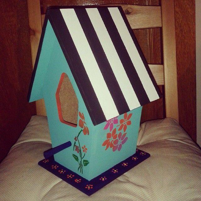 Ahşap Boyama Kuş Evi ürettiklerim Pinterest