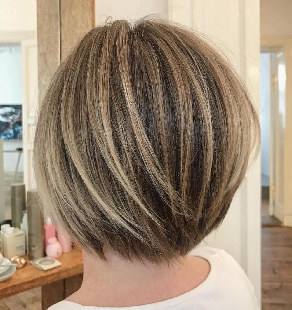 Short Layered Bob With Subtle Balayage | Bob haircut for ...