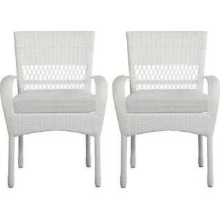 martha stewart living patio furniture charlottetown white patio dining chair with bare cushion 2 pack