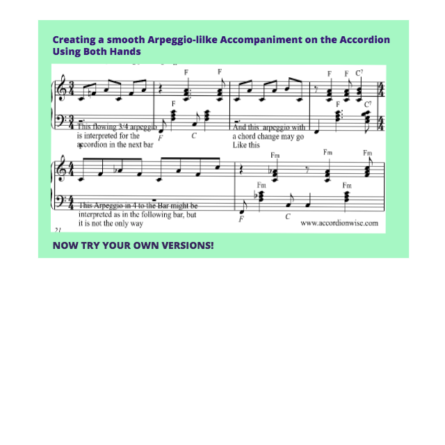 A Suggestion For Creating A Flowing Accompaniment Line On The