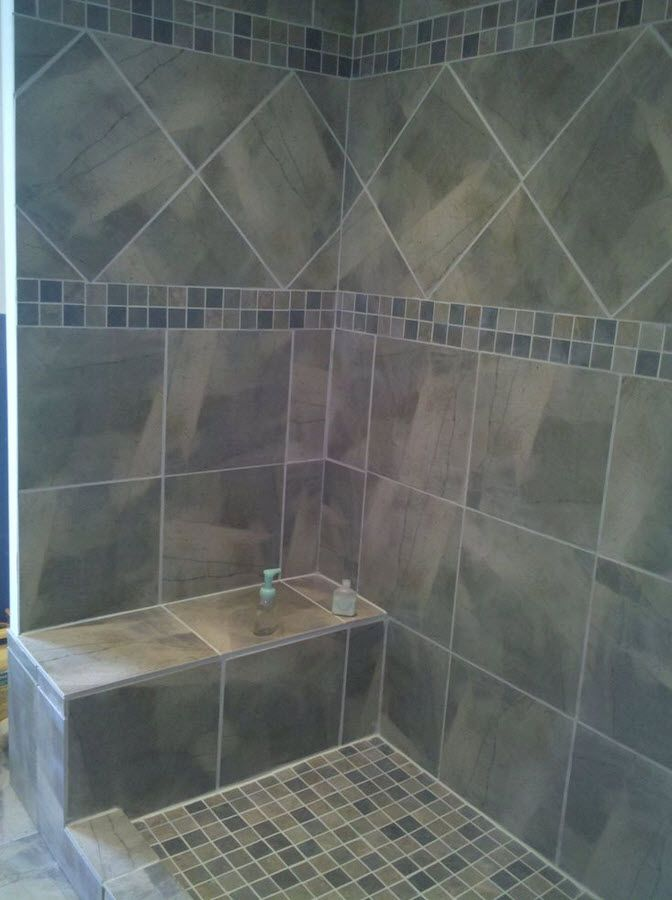 1 MLN Bathroom Tile Ideas Bathroom Pinterest Gray shower tile