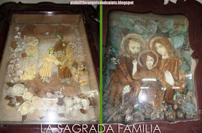 AND ALL THE ANGELS AND SAINTS: 259. SANTO SHADOW BOX ART