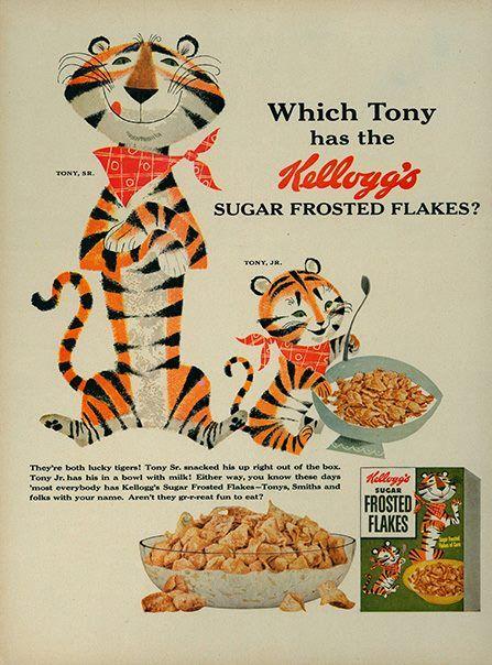 #Icon #TonyTheTiger #kellogs #vintageart | Advertising Week Hub / 360 | Cutting edge information, history, art, and education at Advertising Week 360 Hub http://www.advertisingweek.com/360/