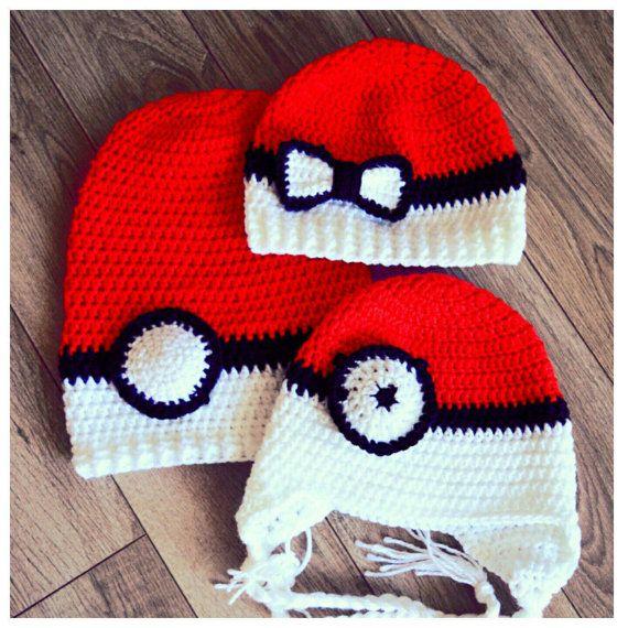 Pokeball hat. Crochet Pokemon hat. Crochet by AriannasHandmade ...