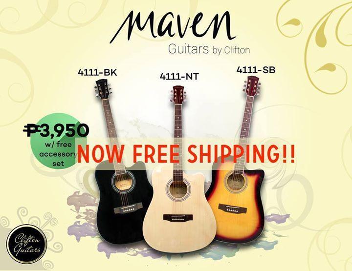 Maven 4111 Guitars Now Free Shipping In Lazada Http Ift Tt 2li6c1f Clifton Guitar Free