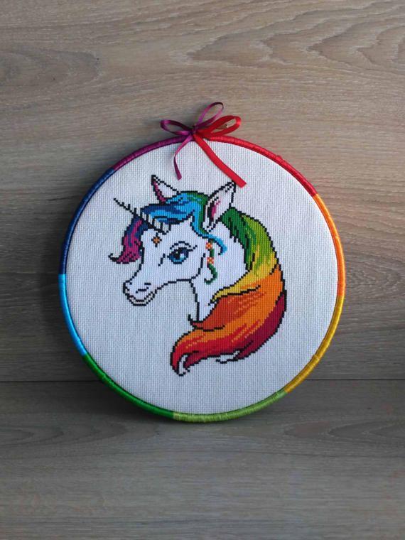 Unicorn cross stitch pattern Unicorn cross stitch Unicorn embroidery ...