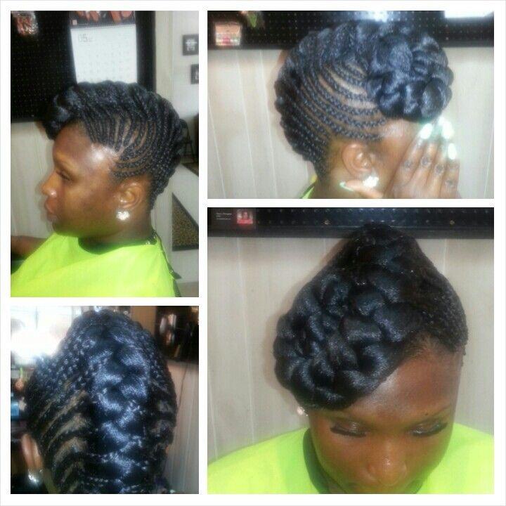 Goddess braids Mohawk