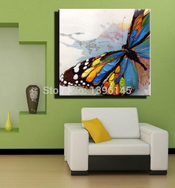 Free Shipping Whole 100 Hand Painted Oil Paintings Erfly Painting Large Wall Art
