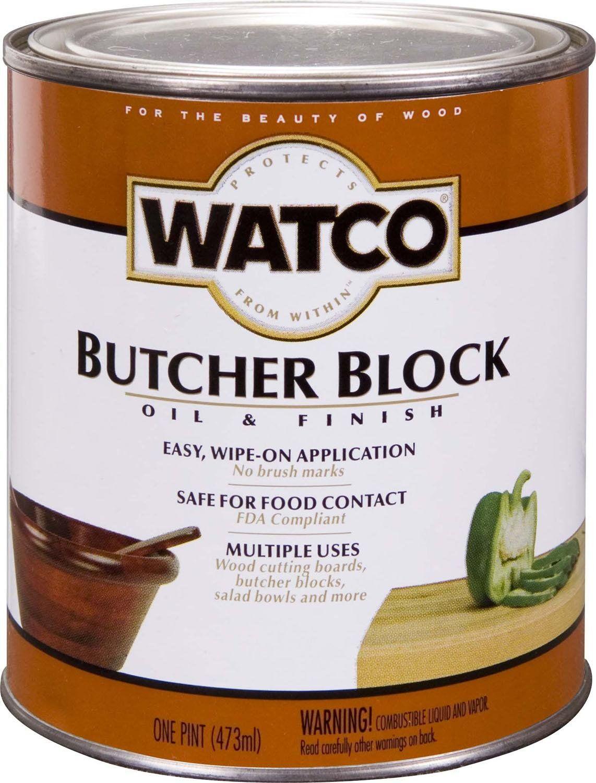 Watco 241758 Butcher Block Oil & Finish, Pint Butcher