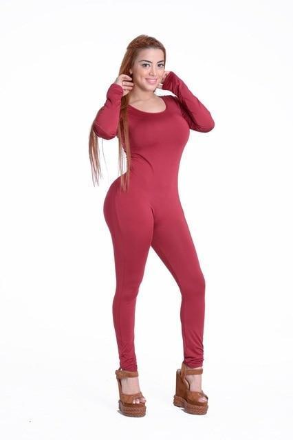 e7e5f072598 Long Sleeve O-Neck Long Pants Women Jumpsuits 2019 New Fashion Sexy  Bodyconliilgal