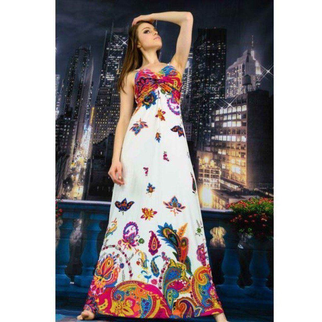 Hot fashion bohemian style long maxi dress vestidos pinterest