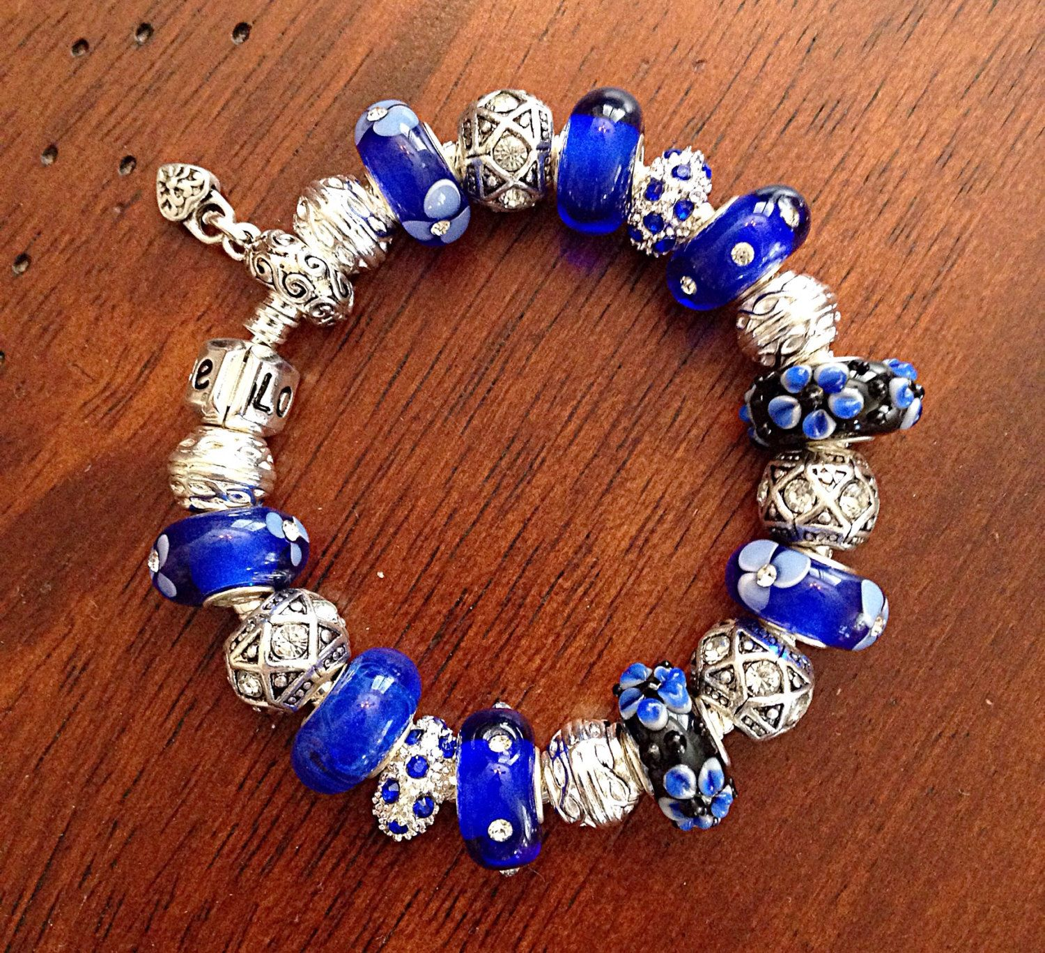 ribbon blue awareness bracelet necklace pin crystal swarovski cancer colon