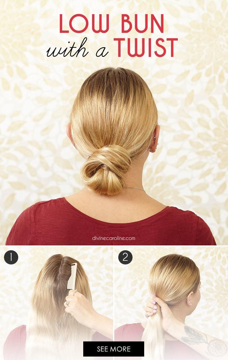 Dennis Basso Inspired Low Bun With A Twist More Hair Bun Tutorial Business Casual Hairstyles Easy Bun Hairstyles
