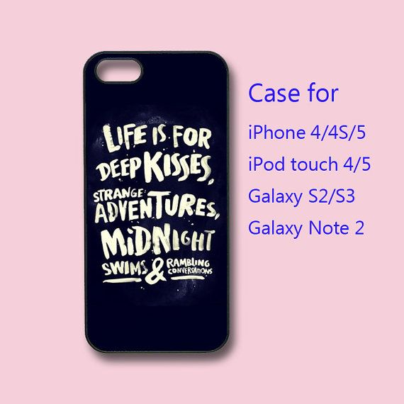 KISSES - iPhone 5 case, iPhone 4 case, ipod touch 5 / 4 case , ipod case,  samsung galaxy s3 case , galaxy note 2 case on Etsy, $14.99