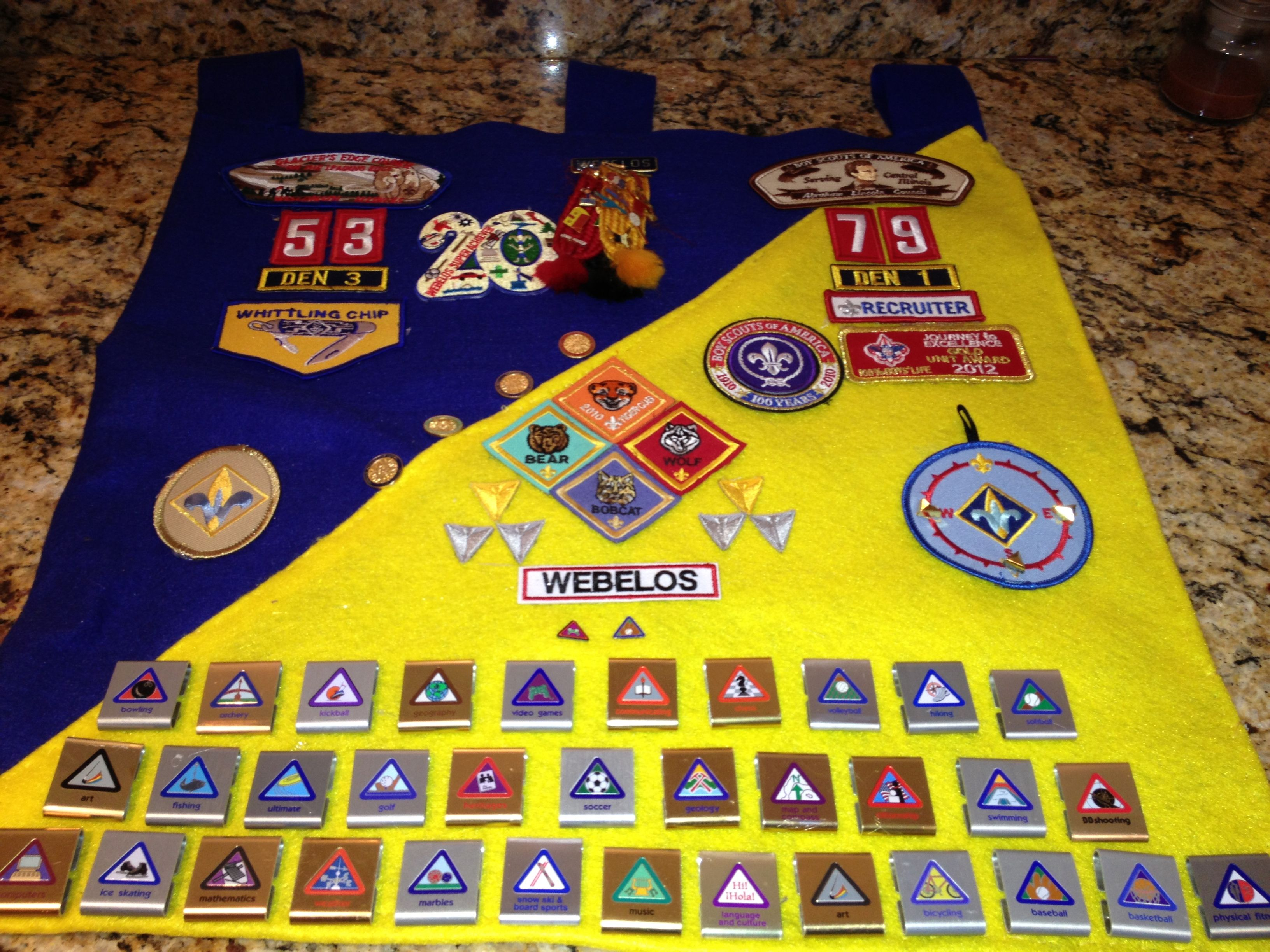 Cub Scout Banner This Is An Accumulation Of All Of His