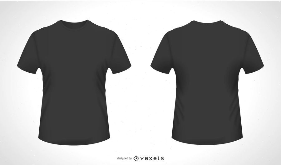 Download Front Back T Shirt Vector Ad Aff Ad Vector Shirt Front Plain Black T Shirt Shirts T Shirt Design Template
