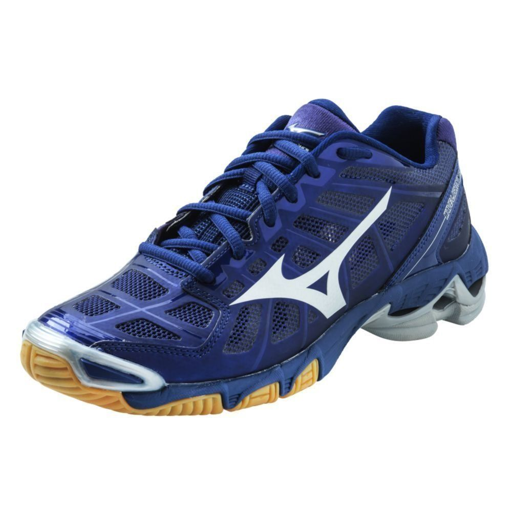 Amazon Com Mizuno Women S Wave Lightning Rx2 Navy Silver Volleyball Shoes Clothing Volleyball Shoes Volleyball Jerseys Badminton Shoes