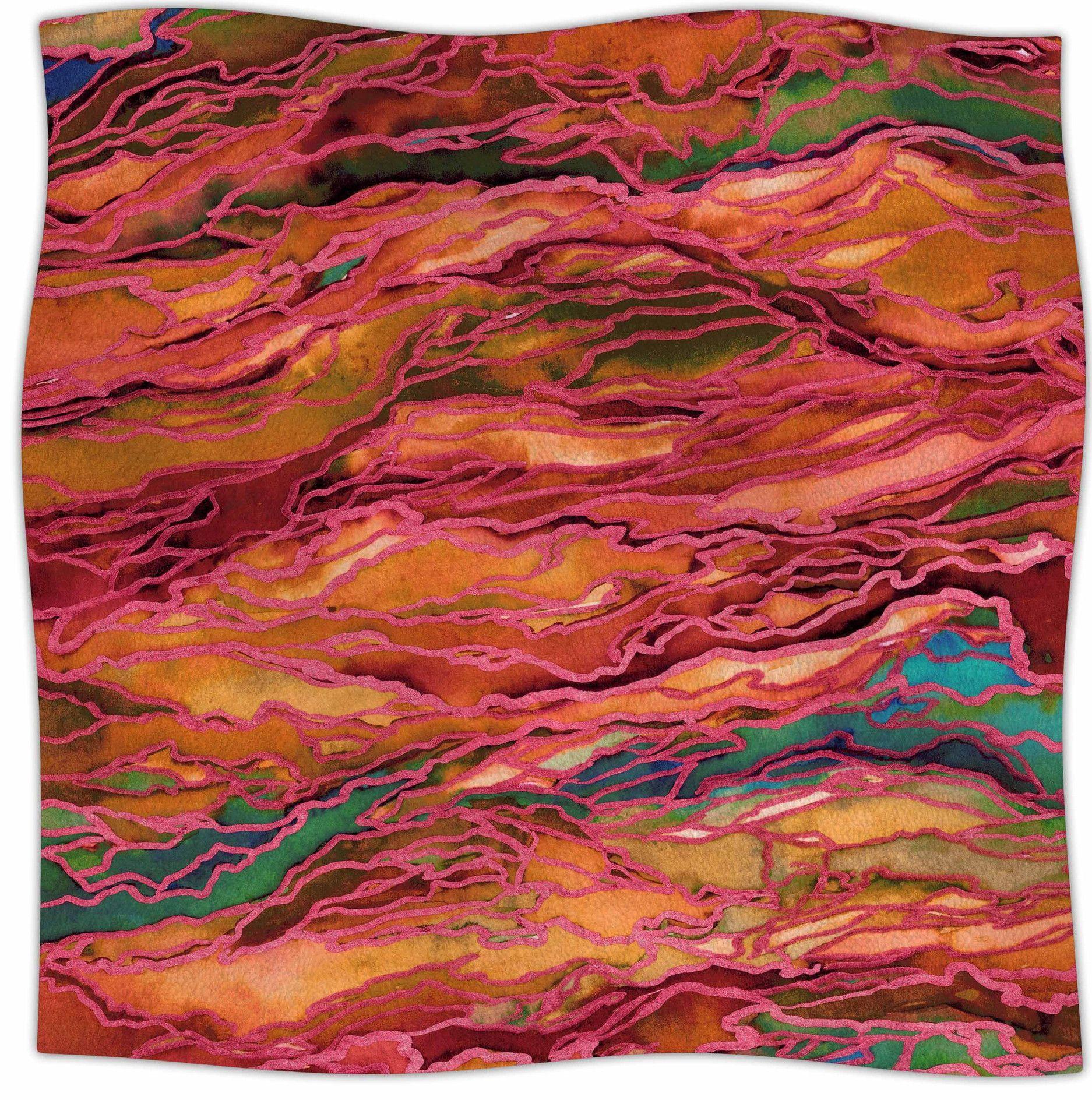 Marble Idea! Fleece Throw Blanket