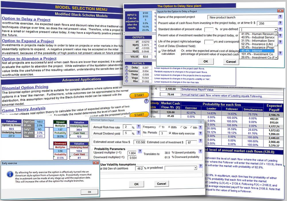 The Excel Real Options Valuation Template Brings Together A