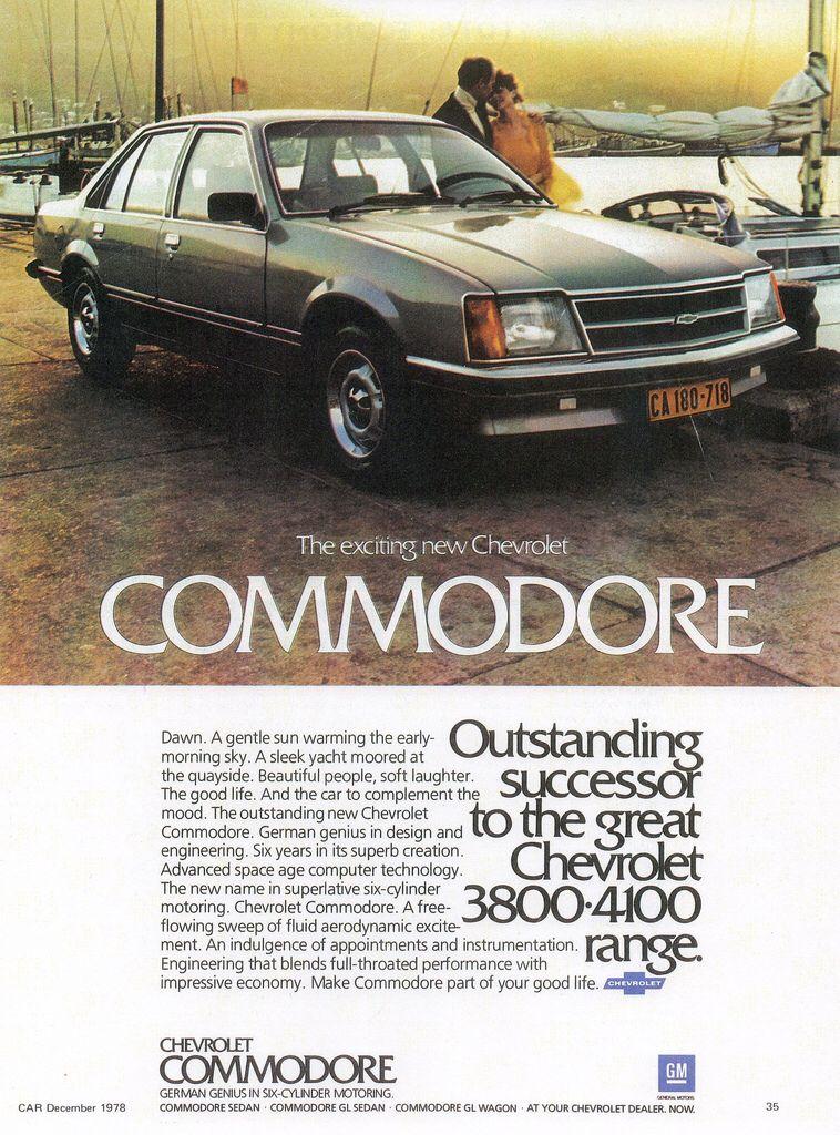 1979 Chevrolet Commodore South Africa Holden Australia Australian Cars Chevrolet