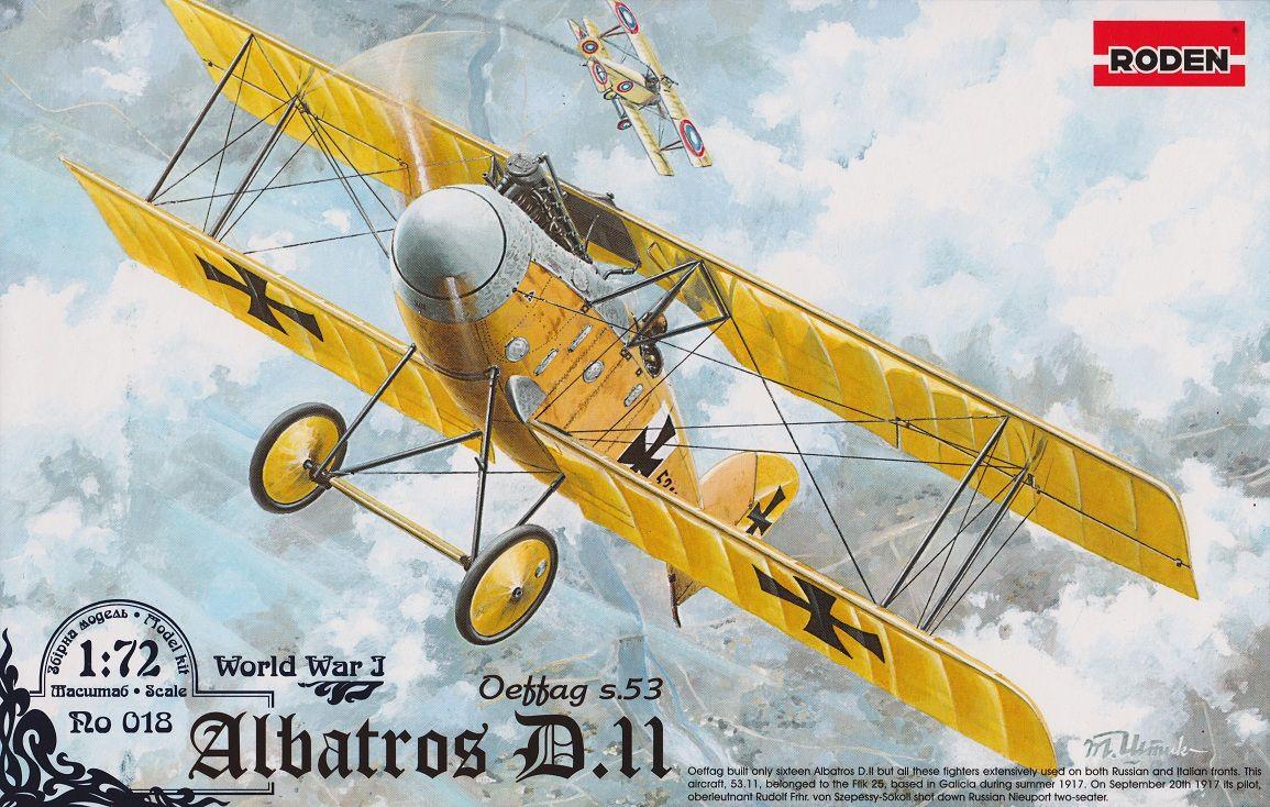 Albatros D.II Oeffag s.53 von Roden in 1//72