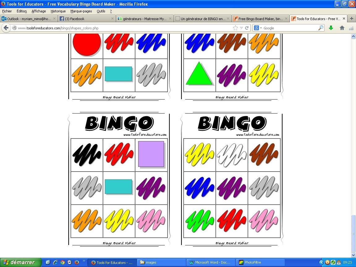 g u00e9n u00e9rateur de bingo