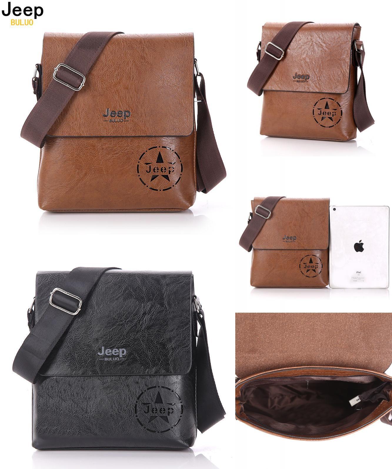 Visit to Buy  JEEP BULUO Famous Brand Men Bag Casual Business Leather Mens  Messenger afca9371e29e6