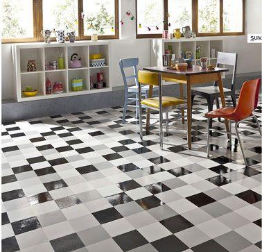 carrelage cuisine noir et blanc - Recherche Google décoration
