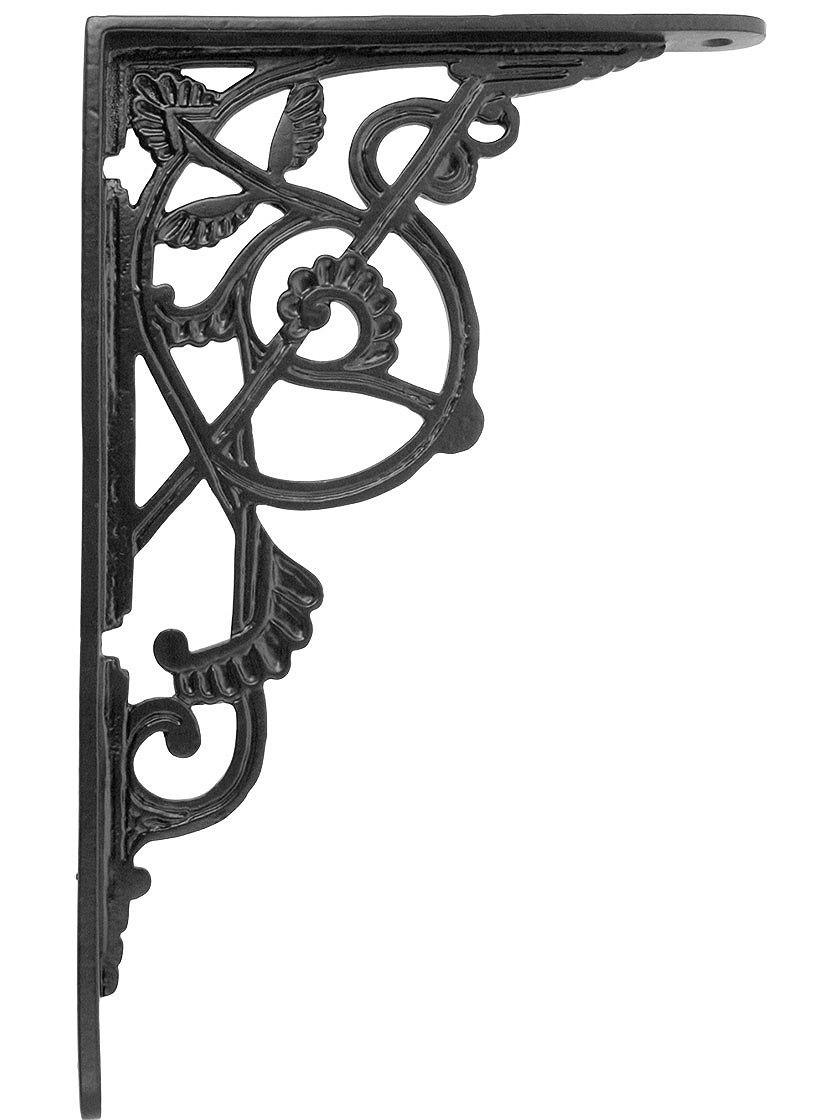 Large Victorian Iron Shelf Bracket 10 7 8 X 7 1 8 Decorative Shelf Brackets Iron Shelf Brackets Victorian Irons