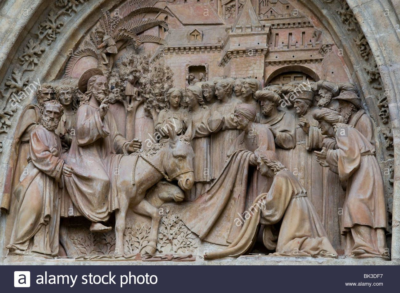 jesus arriving in jerusalem - cathedral Sevilla
