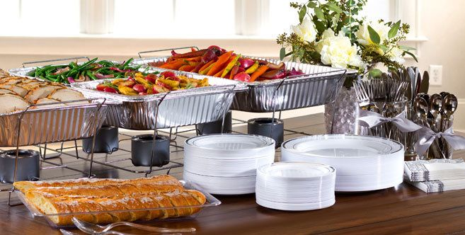 Chafing dishes buffet reception 2