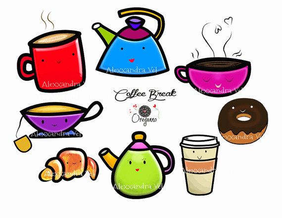 coffee break clipart kawaii coffee and bread personal commercial rh pinterest com free clipart christmas free clip art images