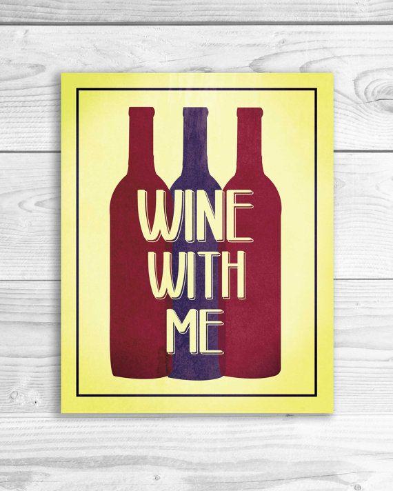 Wine Quote Art Print Kitchen Wall Art Funny by SmartyPantsStudio ...