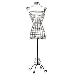 mannequin femme fil m tal adee la redoute interieurs portant valet de nuit chambre d co. Black Bedroom Furniture Sets. Home Design Ideas