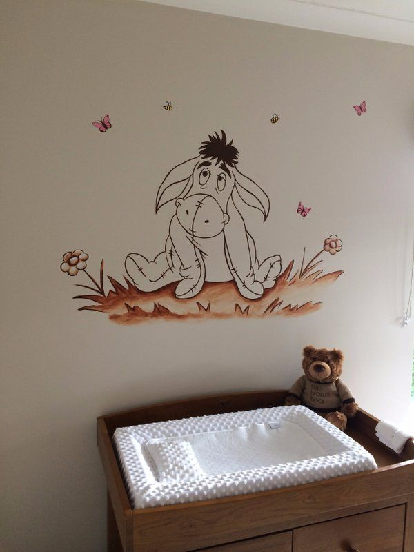 Winnie The Pooh Eeyore Nursery Murals Www Custommurals Co Uk