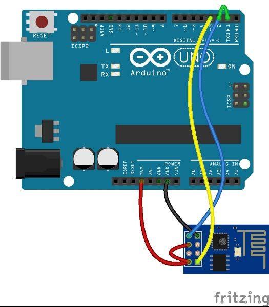 Arduino and Wifi module fritzing-circuit | Arduino in 2019
