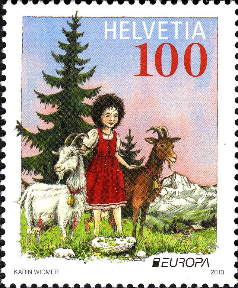 Literary Stamps: Spyri, Johanna (1827 – 1901)