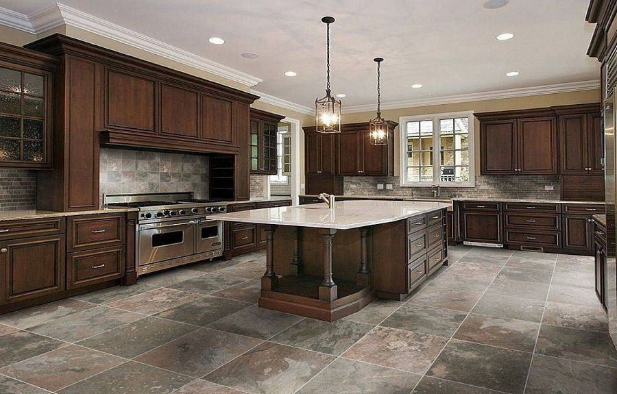 dark kitchen floors kitchen tile flooring dark tile floors kitchen