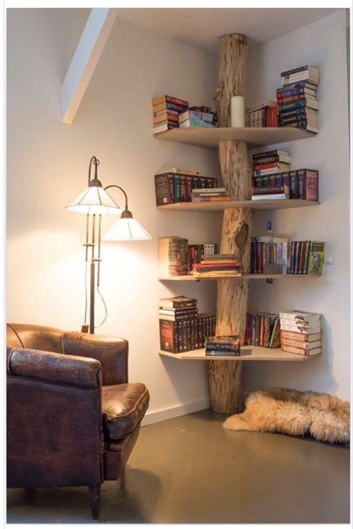 Amazing. Tree corner bookshelf