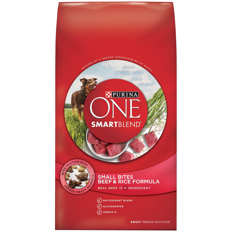 Purina One Smartblend Small Bites Beef Amp Rice Formula