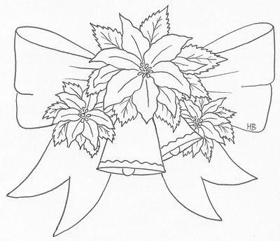 Poinsettias bow   Hobbies and crafts   Pinterest   Navidad, Dibujos ...
