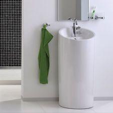 Halbsaulen Design Waschbecken Waschtisch Keramik Standwaschbecken