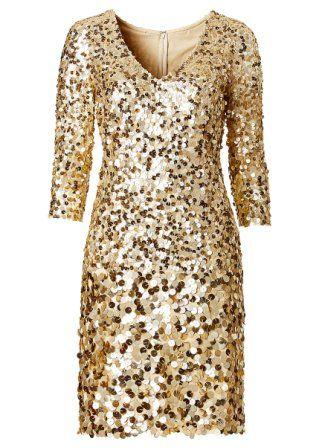 [11+] Goldenes Kleid Mit Pailletten