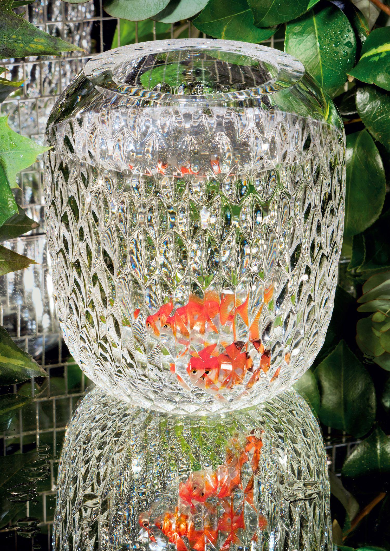 Luxury crystal vase from saint louis new folia collection with luxury crystal vase from saint louis new folia collection with goldfish reviewsmspy