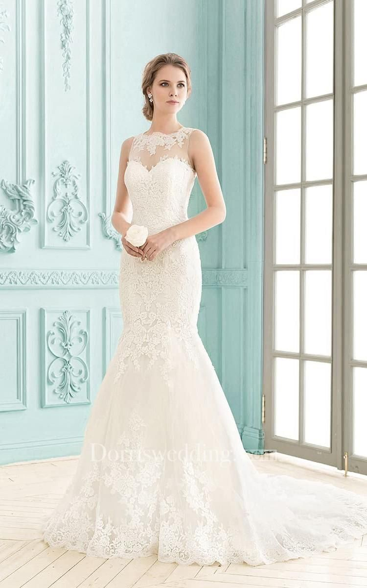 Dorris Wedding - #Dorris Wedding Bateau Sleeveless Floor-length Lace ...
