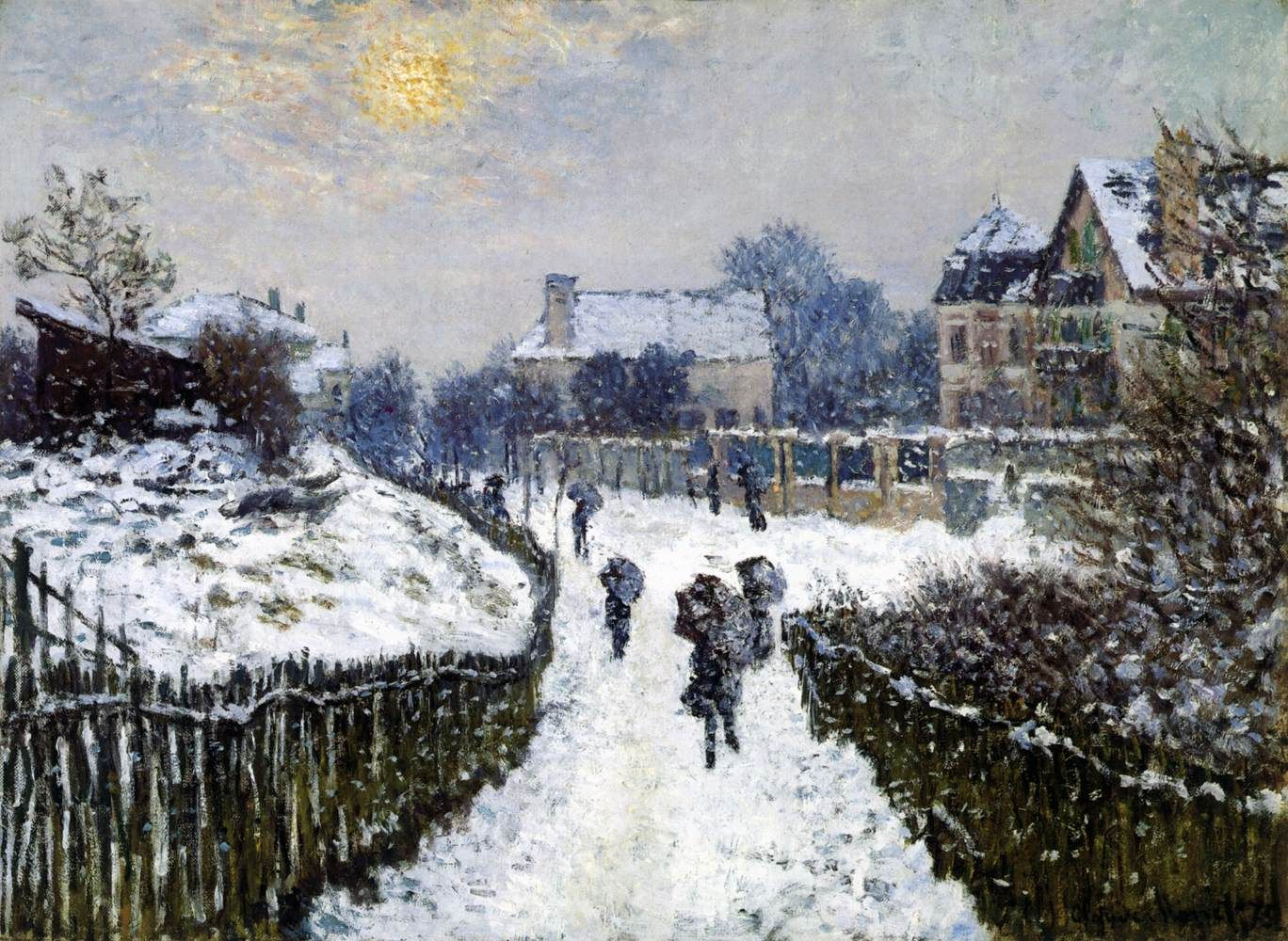 Boulevard Saint-Denis, Argenteuil, in Winter (1875) | Claude Monet, French, 1840-1926 | Oil on canvas, 61 x 82 cm Museum of Fine Arts, Boston