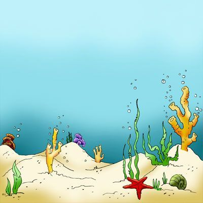 Make It Crafty Seaweed Sea Floor Cartoon Background Sea Floor Cartoon Clip Art