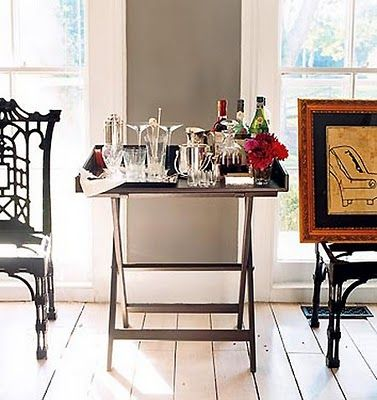 Heirloom Philosophy Cheers Holiday Entertaining And The Well Stocked Bar Small Bars For Home Bar Cart Decor Vintage Kitchen Decor